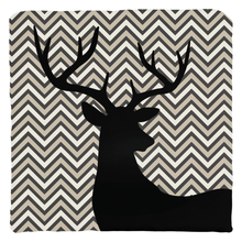 Load image into Gallery viewer, Deer Chevron Throw Pillows, Forest Room Decor