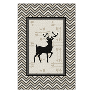 Deer and Arrows Rug, Forest Rom Decor