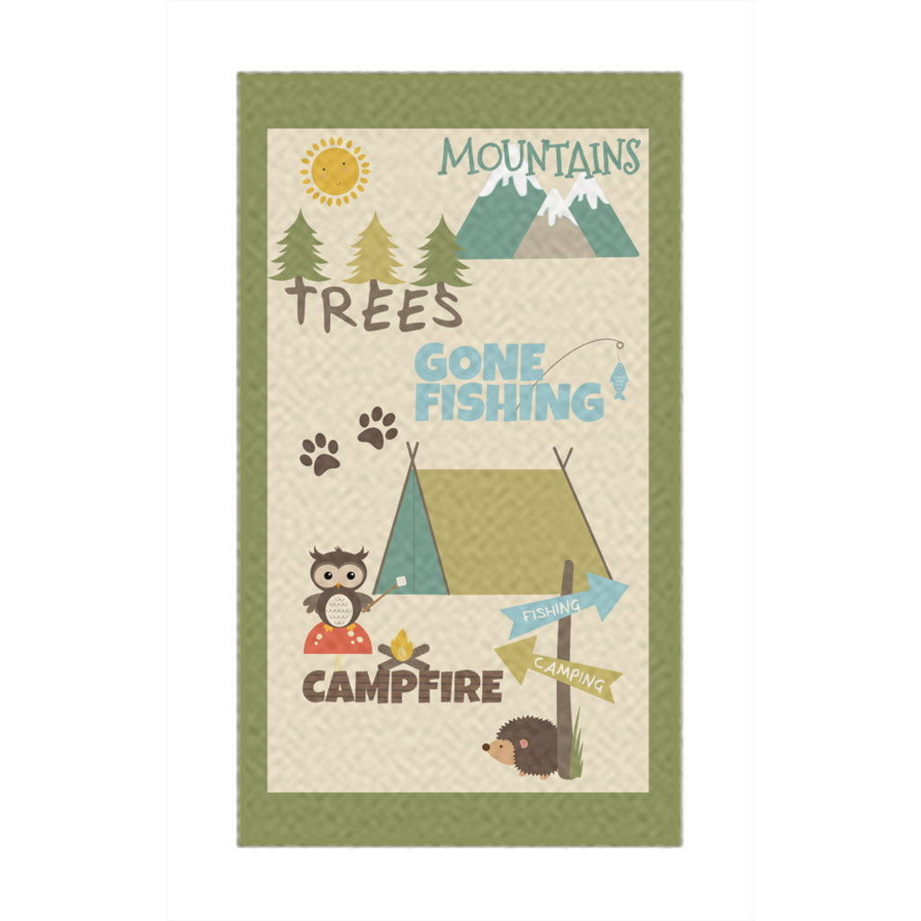 Camp Life Rugs, Camping Nursery Decor