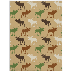 Mix Moose Minky Blanket, Rustic Baby Bedding