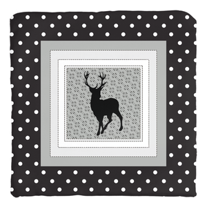 Dots Black Deer Throw Pillow, Rustic Nursery Bedding