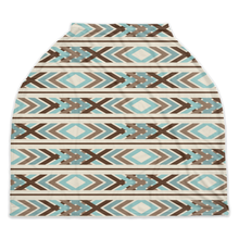 Load image into Gallery viewer, Arctic Blue Ethnic Car Seat Cover, Ethnic  Nursing Cover