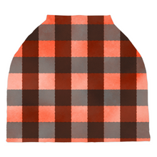 Load image into Gallery viewer, Jack Red Buffalo Plaid Car Seat Cover, Lumberjack Nursing Cover