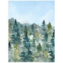 Load image into Gallery viewer, Majestic Forest Blue Skye Minky Blanket, Forest Nursery Bedding