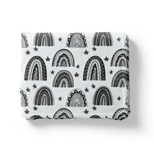 Load image into Gallery viewer, Scandi Rainbow Minky Blanket, Rainbow Nursery Bedding