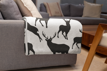 Load image into Gallery viewer, Black Deer Minky Blanket, Rustic Baby Bedding