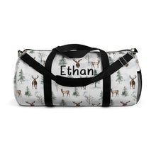 Load image into Gallery viewer, Personalized Woodland Duffel Bag, Deer Hospital Bag - Enchanted Forest