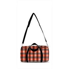 Load image into Gallery viewer, Jack Red Plaid Duffle Bag, Lumberjack Overnight Bag