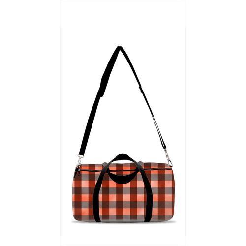Jack Red Plaid Duffle Bag, Lumberjack Overnight Bag