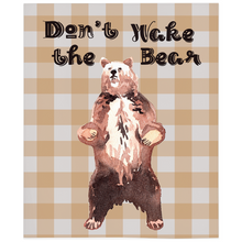 Load image into Gallery viewer, Grizzly Bear Don't Wake the Bear Minky Blanket, Woodland Nursery Bedding