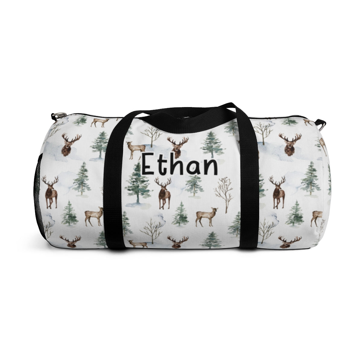 Personalized Woodland Duffel Bag, Deer Hospital Bag - Enchanted Forest