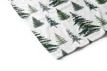 Load image into Gallery viewer, The Forest Pine Trees Minky Blanket, Forest Nursery Bedding