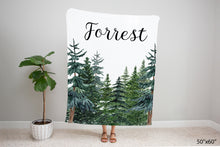 Load image into Gallery viewer, Forest Nursery Bedding Set - Woodland Crib Sheet, Blanket and Pillow - The Forest