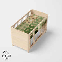 Load image into Gallery viewer, Green Patchwork Lumberjack Crib Sheet, Rustic Baby Bedding