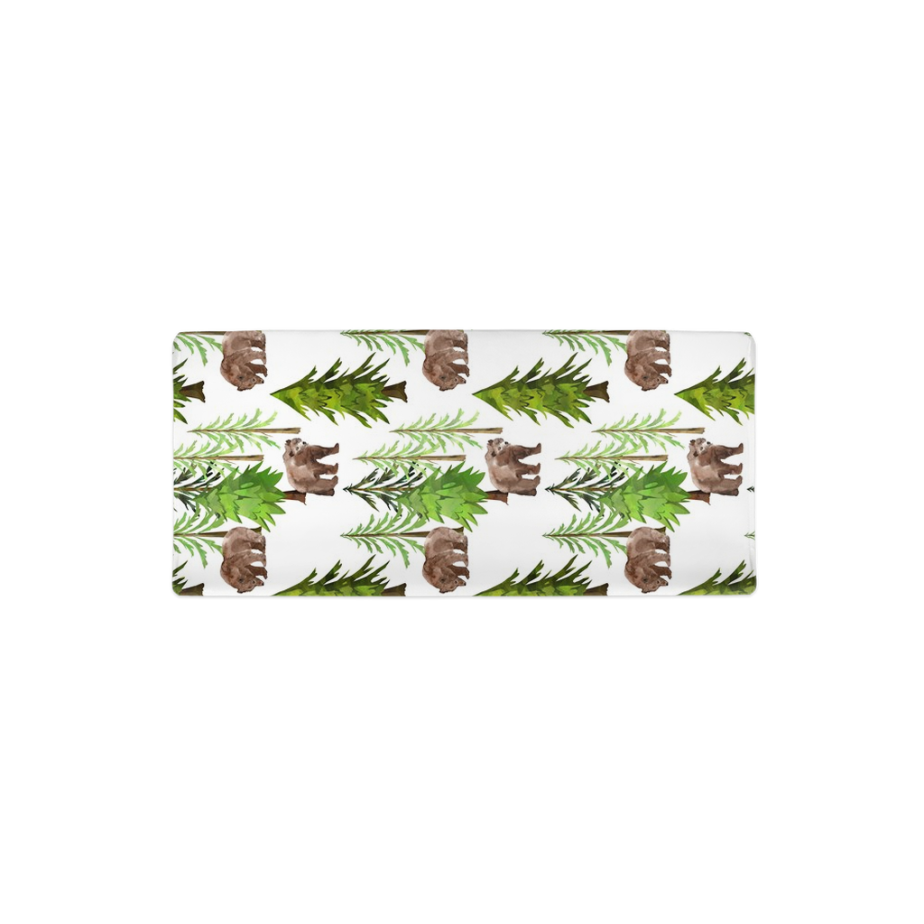 Pine trees and Bear Changing Pad Cover, Woodland Nursery - Into the Woods