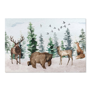 Woodland Area Rug, Forest Nursery Decor - Enchanted Forest