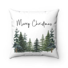 Load image into Gallery viewer, Christmas Pine Trees Pillow, Forest Room Decor - The Forest