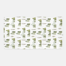 Load image into Gallery viewer, Mountains and Pine Trees Crib Sheet, Forest Nursery Bedding - Wild Green