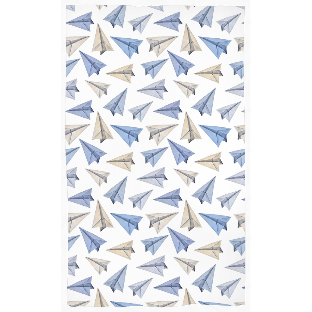 My Paper World Curtain, Airplanes Nursery Decor