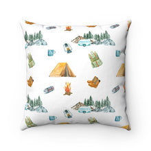 Load image into Gallery viewer, Camping Nursery Bedding Set - Camper Crib Sheet, Blanket and Pillow - Little Explorer