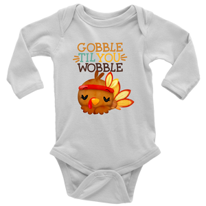 Gobble Til You Wobble Shirt, Fall Kids Clothes