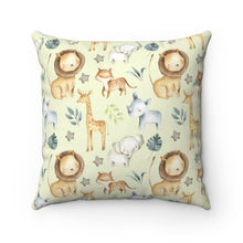 Load image into Gallery viewer, Baby Africa Be Brave Lion Pillow, Safari Nursery Decor