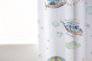 Up in the Sky Curtain, Airplanes Nursery Decor