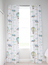 Load image into Gallery viewer, Up in the Sky Curtain, Airplanes Nursery Decor