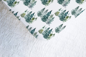 Majestic Forest Crib Sheet, Forest Nursery Bedding