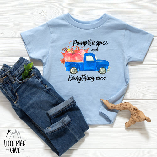 Pumpkin Spice and Everything Nice Shirt, Fall Baby Clothes