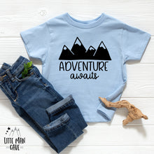 Load image into Gallery viewer, Adventure Awaits Baby Clothes, Pregnancy Reveal Baby Bodysuit