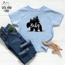 Load image into Gallery viewer, Trees Baby Bear Shirt, Cabin Kids Clothes