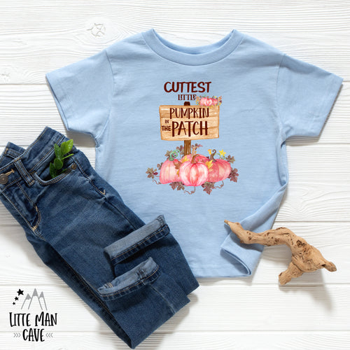 Cutest Little Pumpkin in the Patch Baby Shirt, Fall Baby Clothes