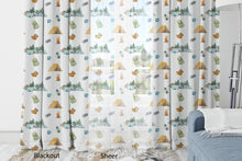 Load image into Gallery viewer, Camping Curtains Blackout or Sheer, Camper Nursery Decor - Little Explorer