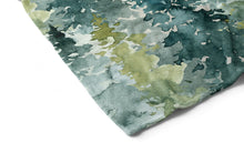 Load image into Gallery viewer, Majestic Forest Blue Sky Personalized Minky Blanket, Forest Nursery Bedding