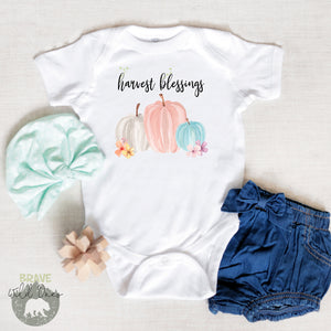 Harvest Blessings Bodysuit, Fall Baby Clothes