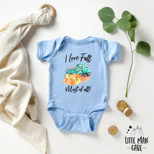 Load image into Gallery viewer, I Love Fall Most of All Shirt, Fall Baby Clothes