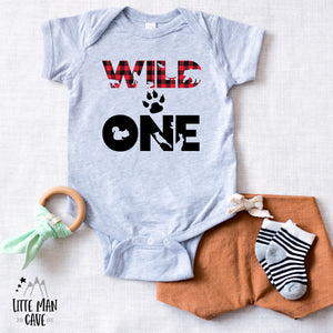 Buffalo Plaid Wild One shirt, Lumberjack Baby Clothes