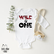 Load image into Gallery viewer, Buffalo Plaid Wild One shirt, Lumberjack Baby Clothes