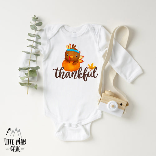 Thankful Shirt, Thanksgiving Kids Clothes