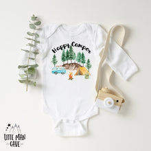 Load image into Gallery viewer, Little Explorer Happy Camper Shirt, Camping Kids Clothes