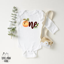 Load image into Gallery viewer, One Pumpkin Birthday Bodysuit , Fall Baby Clothes