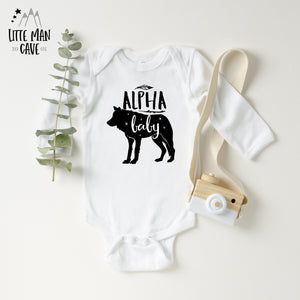 Alpha Wolf Baby clothes, Wildlife kids clothes