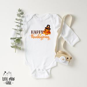 Happy Thanksgiving Bodysuit, Fall Kids Clothes