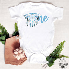Load image into Gallery viewer, Dreamcatcher One Birthday shirt, Boho Baby Boy Clothes
