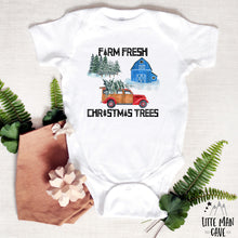 Load image into Gallery viewer, Farm Fresh Christmas Trees Shirt, Christmas Baby Clothes