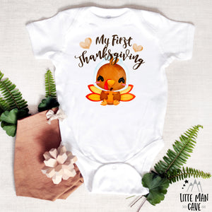 My First Thanksgiving Turkey Bodysuit, Fall Baby Clothes