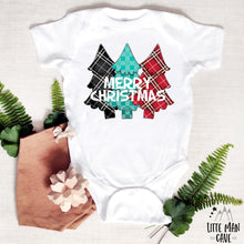 Load image into Gallery viewer, Merry Christmas Tree Shirt, Christmas Baby Clothes
