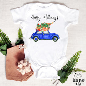 Happy Holidays Shirt, Christmas Baby Clothes