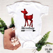 Load image into Gallery viewer, Adventure Deer Shirt, Plaid Kids Clothes